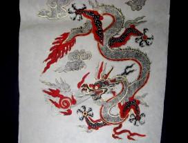 AF18 Affiche Tibétaine Papier Népalais Dragon
