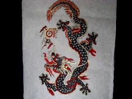 AF19 Affiche Tibétaine Papier Népalais Dragon
