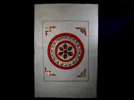 AF28 Affiche Tibétaine Papier Népalais Mantra Om Mani Padme Hum