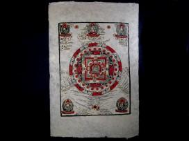 AF30 Affiche Tibétaine Papier Népalais Bouddha