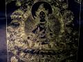 AF38 Affiche Tibétaine Papier Népalais Tara Déesse Bouddhiste
