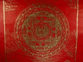 AF42 Affiche Tibétaine Papier Népalais Bouddha Mandala
