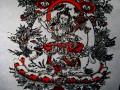 AF46 Affiche Tibétaine Papier Népalais Tara Déesse Bouddhiste