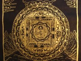 AF48 Affiche Tibétaine Papier Népalais Bouddha Mandala