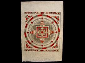 AF53 Affiche Tibétaine Papier Népalais Mandala