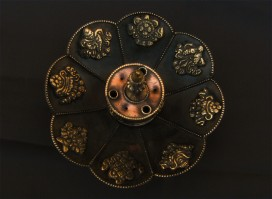 BPE02 Brûle-Encens Bougeoir Fleur de Lotus Astamangala
