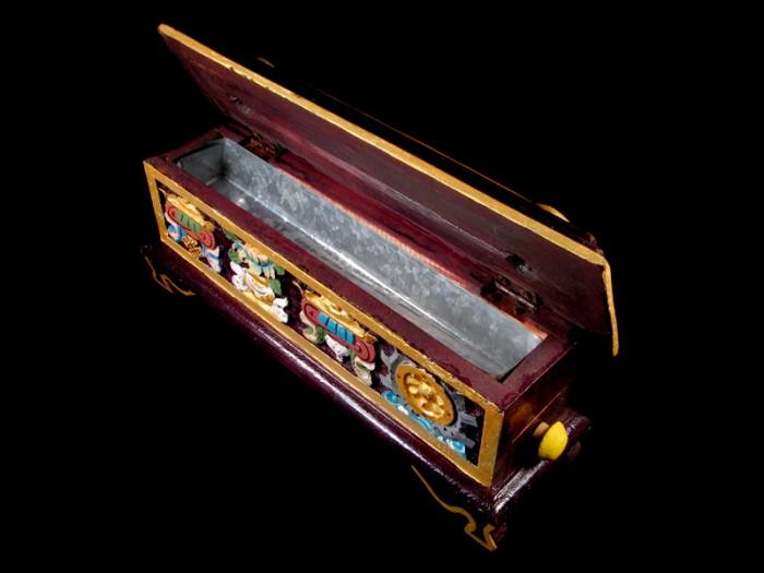 Bpe28 br le et porte encens tib tain signes auspicieux bouddha - Reste de bois brule synonyme ...
