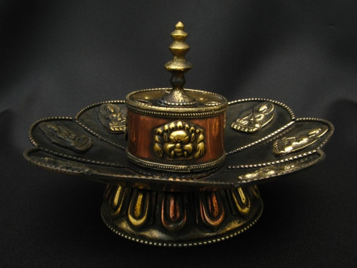 Bpe33 br le encens bougeoir fleur de lotus bouddha bouddhisme noeud sans fin - Fleur de lotus bouddhisme ...