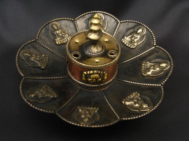 BPE33 Brûle-Encens Bougeoir Fleur de Lotus Bouddha
