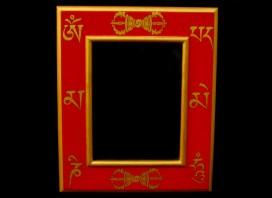CAD01 Cadre Photo Tibétain Mantra bouddhiste Om Mani Padme Hum Dorje Vajra