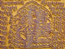 DMD34 Tampon à Drapeau de Prières Tibétain Tara Verte