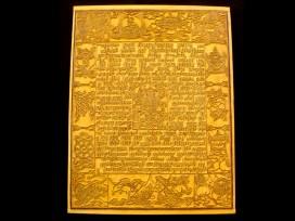 DMD36 Tampon à Drapeau de Prières Tibétain Signes Auspicieux du Bouddhisme