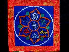 BB27 Bannière Tibétaine Mantra Om Mani Padme Hum