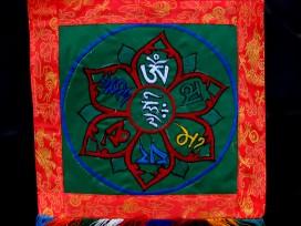 BB26 Bannière Tibétaine Mantra Om Mani Padme Hum