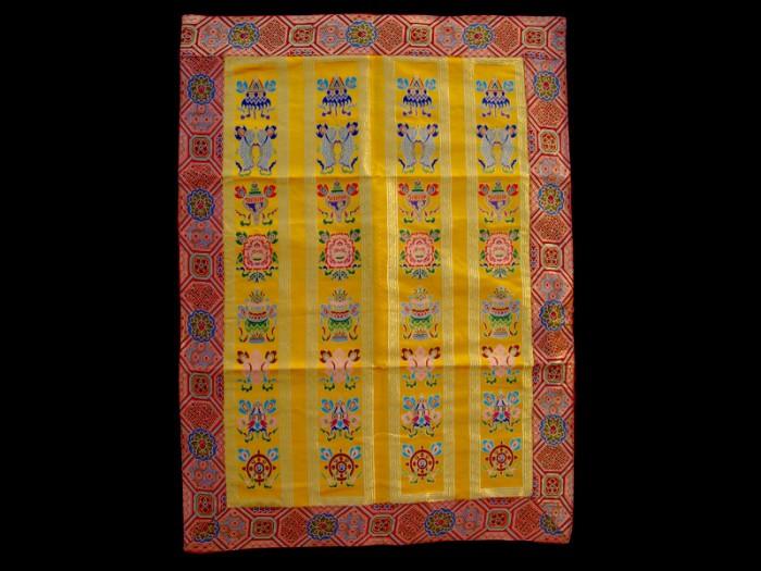bb49 rideau de porte tib tain tenture tib taine signes auspicieux du bouddhisme d co. Black Bedroom Furniture Sets. Home Design Ideas