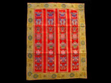 bb50 rideau de porte tib tain tenture tib taine signes auspicieux du bouddhisme d co. Black Bedroom Furniture Sets. Home Design Ideas