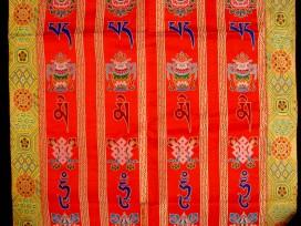 BB48 Rideau de Porte Tibétain / Tenture Tibétaine Mantra Signes Auspicieux du Bouddhisme