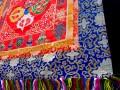 BB53 Bannière Tibétaine Dorje Signes Auspicieux du Bouddhisme