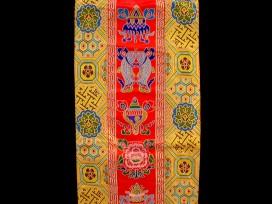 BB55 Bannière Tibétaine Signes Auspicieux du Bouddhisme