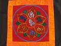 BB73 Bannière Tibétaine Mantra Om Mani Padme Hum