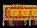 BB66 Bannière Tibétaine Signes Auspicieux du Bouddhisme