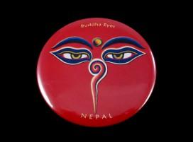 DDD03 Magnet Tibétain Yeux de Bouddha Népal Tibet