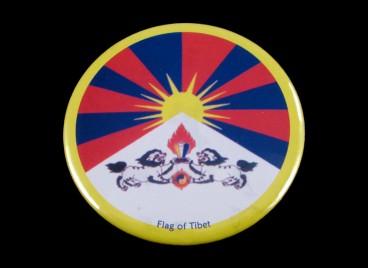 DDD09 Magnet Tibétain Drapeau du Tibet