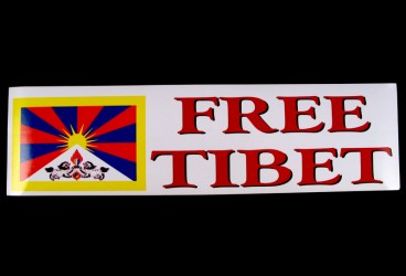 DDD14 Sticker Tibétain FREE TIBET Drapeau du Tibet
