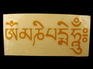 DDD47 Sticker Mantra Tibétain Om Mani Padme Hum