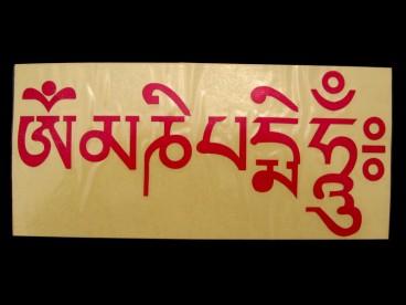 DDD54 Sticker Mantra Tibétain Om Mani Padme Hum