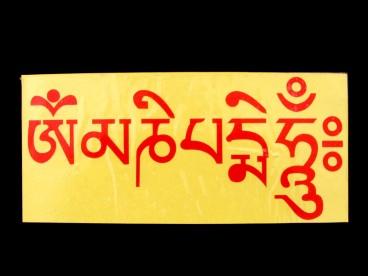 DDD56 Sticker Mantra Tibétain Om Mani Padme Hum