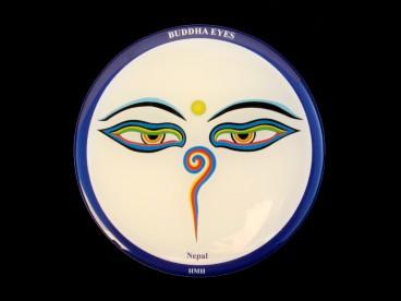 DDD66 Magnet Tibétain Yeux de Bouddha Népal Tibet