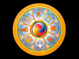 DDD71 Magnet Tibétain Signes Auspicieux du Bouddhisme