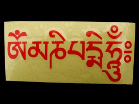 DDD46 Sticker Mantra Tibétain Om Mani Padme Hum