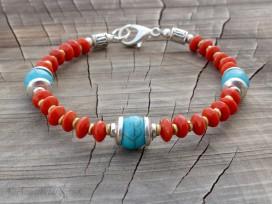 BRD337 Bracelet Tibétain 18 cm