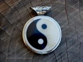 PD100 Pendentif Yeux de Bouddha Yin Yang