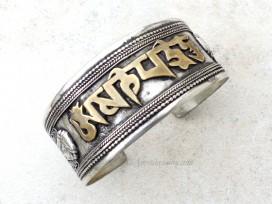 BRD348 Bracelet Tibétain Filigranes Mantra