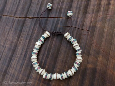 BrMala301 Bracelet Mala Os de Buffle