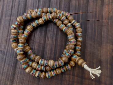Mala112 Mala de Prières Os de Buffle Tibet