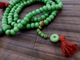 Mala117 Mala de Prières Os de Buffle Tibet