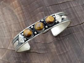 BRD355 Bracelet Tibétain Métal Argenté