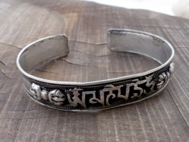 BRD357 Bracelet Tibétain Mantra Dorje