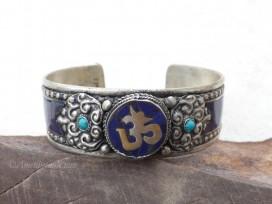 BRD358 Bracelet Tibétain Om