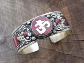 BRD359 Bracelet Tibétain Om
