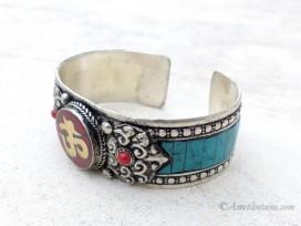 BRD361 Bracelet Tibétain Om