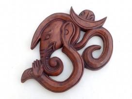 Om14 Om Ganesh en Bois