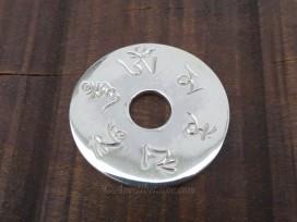 PA396 Pendentif Argent Massif Mantra Tibétain