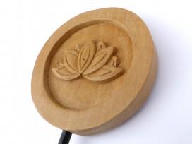 DDD84 Sculpture Fleur de Lotus Bois Exotique