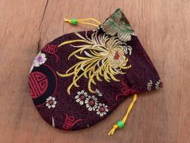 PochTib86 Petite Pochette Tibétaine pour Mala