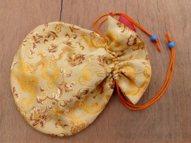 PochTib119 Pochette Tibétaine pour Mala